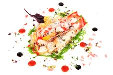 Free Lobster Salad In Japanese Style Royalty Free Stock Photo - 36023715