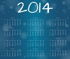 Free 2014 Underwater Year Calendar Royalty Free Stock Photography - 36026277