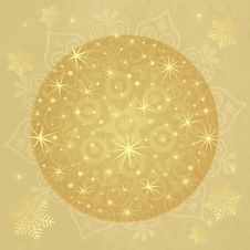 Christmas Paper With Gold Ball Royalty Free Stock Photography