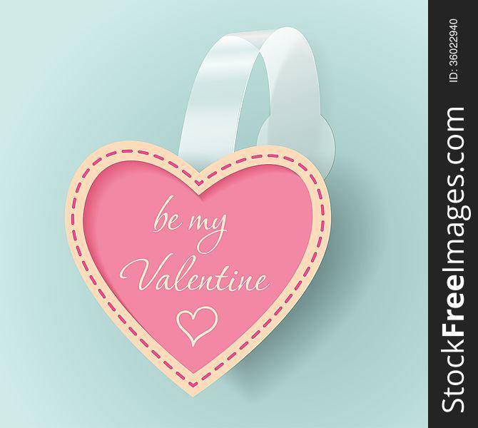 Valentines day vintage vector sticker
