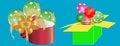 Free Colorful Gift Boxes Surprise Celebration Stock Photo - 36030040