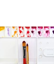 Free Paintbrush And Palette Stock Photography - 36030512