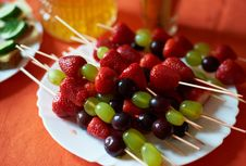 Free Fruit On A Stick Royalty Free Stock Photo - 36036955