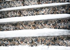 Ladder Steps Covered With Snow Royalty Free Stock Photo