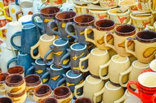 Free Colorful Bone China Cups Stock Photography - 36039452