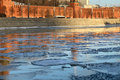 Free Moscow River With Ice Stock Photography - 36042782
