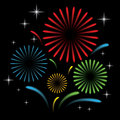 Free Fireworks With Star Stock Image - 36045151