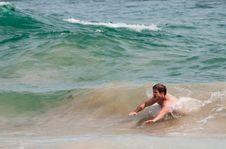 Free Body Surfing Royalty Free Stock Photo - 36041785