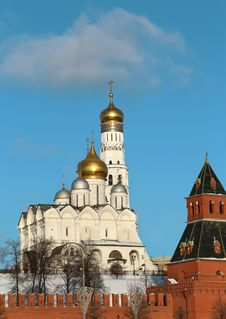 Church And Bell Tower Of Ivan The Great In Moscow Stock Photo