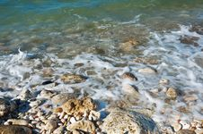 Rocky Coast Of The Black Sea Royalty Free Stock Images
