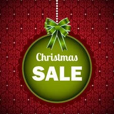 Free Christmas Sale Template Stock Image - 36044291
