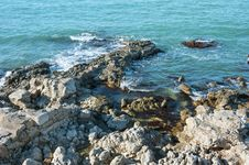 Rocky Coast Of The Black Sea Royalty Free Stock Photo
