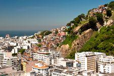 Free Copacabana And Favela Cantagalo In Rio De Janeiro Royalty Free Stock Photos - 36045428