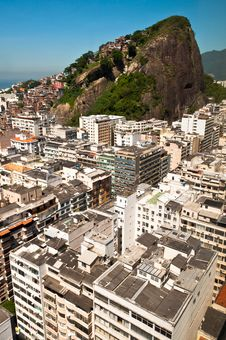Free Copacabana And Favela Cantagalo In Rio De Janeiro Stock Image - 36045441
