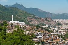 Free View Of Poor Living Area In Rio De Janeiro Stock Photography - 36045742