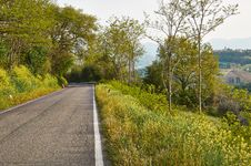 Free Turn Mountain Road In The Mountains Of Italy Stock Photography - 36045822