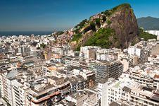 Free Copacabana And Favela Cantagalo In Rio De Janeiro Stock Images - 36045824