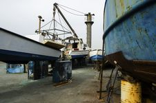 Ship In A Shipyard Wighting For Recondition Jaffa Stock Photo