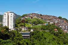 Free View Of Poor Living Area In Rio De Janeiro Royalty Free Stock Photos - 36046238