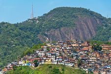 Free View Of Poor Living Area In Rio De Janeiro Royalty Free Stock Image - 36046296