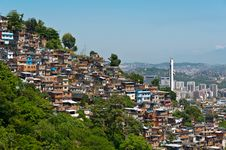 Free View Of Poor Living Area In Rio De Janeiro Stock Image - 36046351