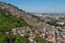 Free View Of Poor Living Area In Rio De Janeiro Royalty Free Stock Photos - 36046498