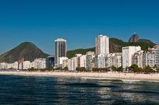 Beautiful Copacabana Beach On A Sunny Day Stock Photos