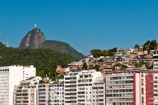 Beautiful Copacabana Beach On A Sunny Day Royalty Free Stock Images