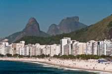 Beautiful Copacabana Beach On A Sunny Day Royalty Free Stock Photo
