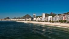Beautiful Copacabana Beach On A Sunny Day Royalty Free Stock Image