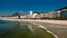 Beautiful Copacabana Beach On A Sunny Day Stock Photography