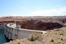 Free Glen Canyon Dam And Bridge Royalty Free Stock Image - 36049376
