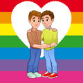 Free Born This Way. Young Men Loving Each Other. Royalty Free Stock Images - 36051329