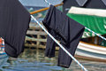 Free Laundry Line With Clothes Stock Photos - 36059023