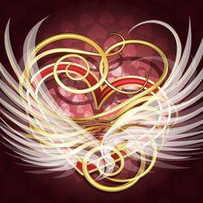 Free Winged Heart Royalty Free Stock Photo - 36050455