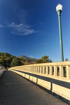 Free Concrete Bridge With Light Pole Over River Stock Photos - 36050863