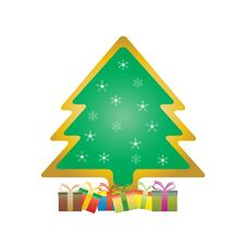 Free Christmas Tree With Gifts Royalty Free Stock Photos - 36051208