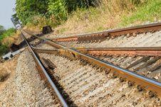 Free Railway Tracks Royalty Free Stock Photography - 36054217