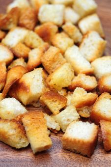 Free Croutons Closeup Royalty Free Stock Images - 36056579