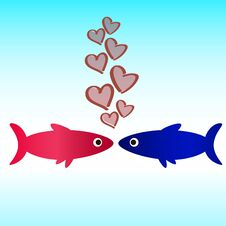 Free Fish Icon Love Wallpaper Royalty Free Stock Photography - 36057797
