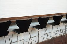 Free Modern Designer Chairs In Line Royalty Free Stock Photography - 36059007