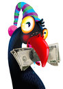 Free Birds With Dollar Banknote. Stock Image - 36067491