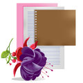 Free Purple Flowers With Paper. Royalty Free Stock Images - 36068919