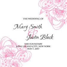 Free Wedding Card Royalty Free Stock Image - 36060566