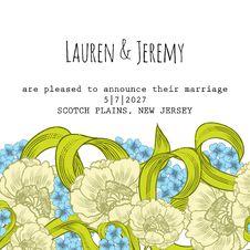 Free Wedding Card Stock Image - 36060671