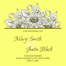 Free Wedding Card Stock Photography - 36060752