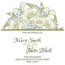 Free Wedding Card Royalty Free Stock Photography - 36060777