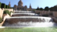 Free Museu Nacional D Art De Catalunya Fountain Royalty Free Stock Image - 36060956