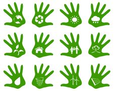 Free Palm Eco Icons Stock Image - 36061371