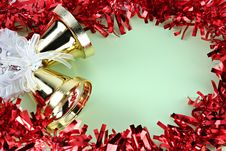 Decorations Red Ribbon For Christmas And New Year. Stock Image